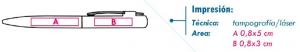 área de impresión bolígrafo gali