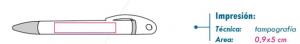 rea de impresión bolígrafo coel