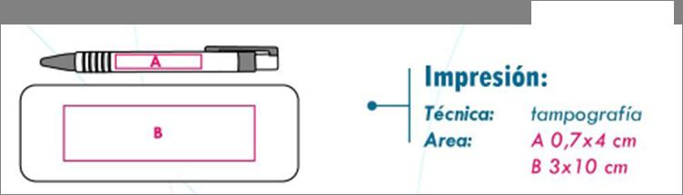 area de impresión set cobalt
