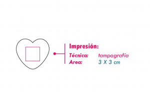 area impresion antistress corazon