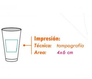 area impresion vaso playero