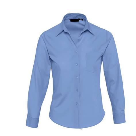 Camisa Basic Chica Popelin Chica Azu