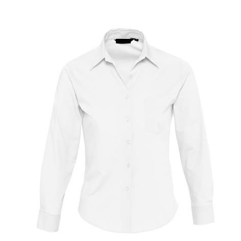 Camisa Basic Chica Popelin Chica Blanco