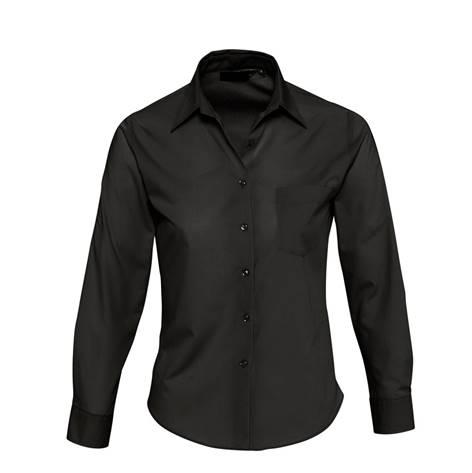 Camisa Basic Chica Popelin Chica Negra