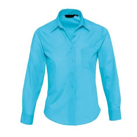 Camisa Basic Chica Popelin Chica Turquesa