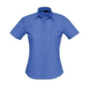 Camisa Bles Chica MC Azul