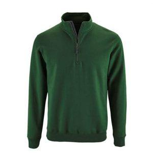Sudadera Cuello Alto Verde
